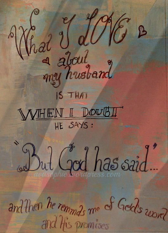 But God has said...